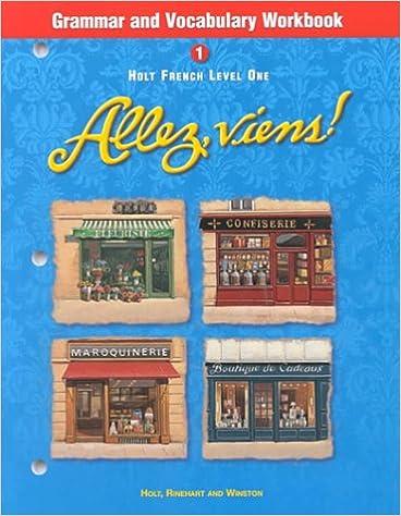 TOP Holt Allez, Viens!: Grammar And Vocabulary Workbook Level 1. products Flyers archivo levanta store
