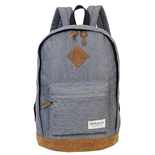 zeraca-lightweight-canvas-school-college-travel-computer-backpack-book-bags-gray