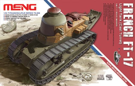 Cast Turret Tank - Meng French FT-17 Light Tank with Cast Turret