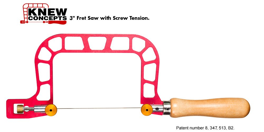 Knew Concepts 3'' Woodworker Fret Saw with Screw Tension