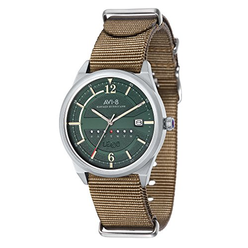 AVI-8 Hawker Hurricane Green Dial Mens Watch AV-4044-05