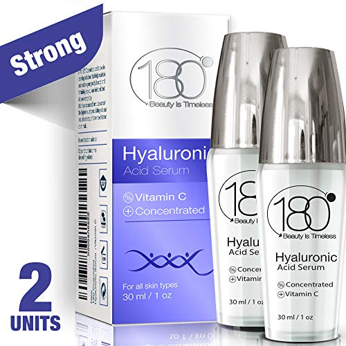 Hyaluronic Acid Serum for Face - Pack of 2-180 Cosmetics - Face Lift Skin Serum for Face and Eyes - Pure Hyaluronic Acid - Hydrating Serum - Anti Aging - Anti Wrinkle - Wrinkles and Fine Lines