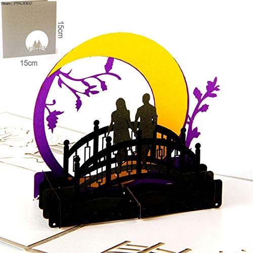 Best Quality - Cards & Invitations - Pop UP Paper Laser Cut Greeting Card Creative Handmade Bridges of Madison County Postcards Birthday Festival Gift - by SeedWorld - 1 PCs