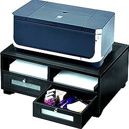 Victor Wood Printer Stand, Midnight Black (1130-5)