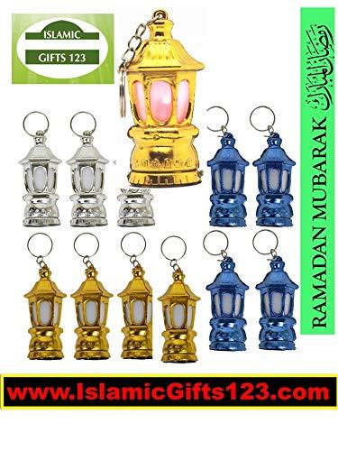 Ramadan Toy Lantern 60 Fanoos Happy Ramadan Kareem Decoration Novelty فانوس- Arabic Moroccan Egyptian Lantern رمضان مبارك Happy Ramadan Mubarak Wholesale Islamic Favor Gifts Key Ring-Quran ☪☪☪☪☪ (60)