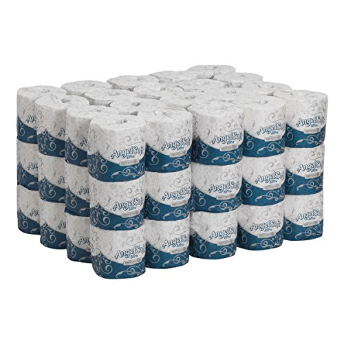 Angel Soft Ultra Professional Series 2-Ply Embossed Toilet Paper, by GP PRO (Georgia-Pacific), 16560, 400 sheets per roll, 60 rolls per case