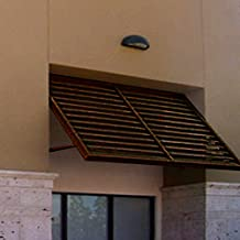 Beauty-Mark OH23-At-6BRZ Awntech's 6-Feet Ohio Metal Shutter Awning 80-Inch W X 24-Inch H X 36-Inch D Bronze