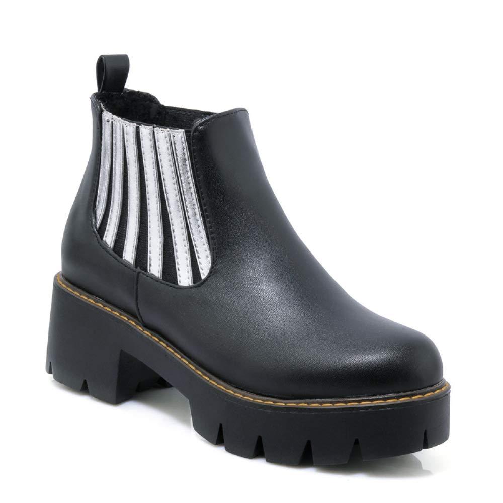 : XQY Women's Shoes British Martin Boots Women's