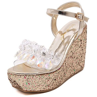 Silver Wedge 5 Heel 7 Golden Synthetic Cn37 Casual Summer 5 RTRY Uk4 5 Golden Eu37 Women'S Pink Us6 White Blushing XUwIq0W1x