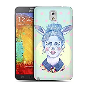 Head Case Designs Winter Rabbit Girl Hare Chic Hipsters Replacement Battery Back Cover for Samsung Galaxy Note 3 N9000 N9002 N9005