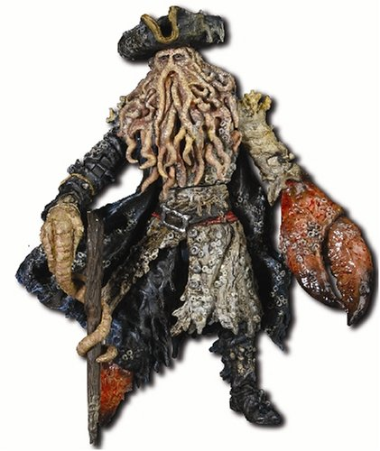 Disney Pirates Of The Caribbean Dead Mans Chest: Davey Jones with Walking Stick, Heart Box & -