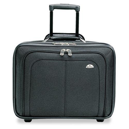 - Samsonite 110211041 Mobile Office Notebook Case, Nylon, 17-1/2 x 9 x 14, Black