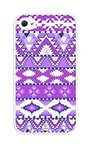 iZERCASE Purple Aztec Rubber iphone 4, iphone 4S case - Fits iphone 4/4S T-Mobile, AT&T, Sprint, Verizon and International Kimberly Kurzendoerfer