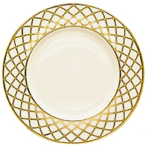 Lenox Hayworth Gold Banded Ivory China 9 Accent Plate (Ivory China Accent 9 Plate)