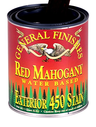 General Finishes Water Based Exterior 450 Stain Red Mahogany Quart