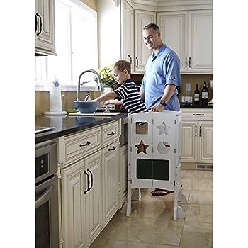 Amazon Com Guidecraft Classic Kitchen Helper Stool