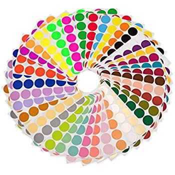 """""""38 Collection"""" - Variety Pack of 3/4"""" Color Code Labeling Dots (912 Assorted Stickers)"""