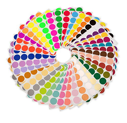 ChromaLabel 38 Collection Color-Code Dot Labels | 38 Assorted Colors (3/4 inch)