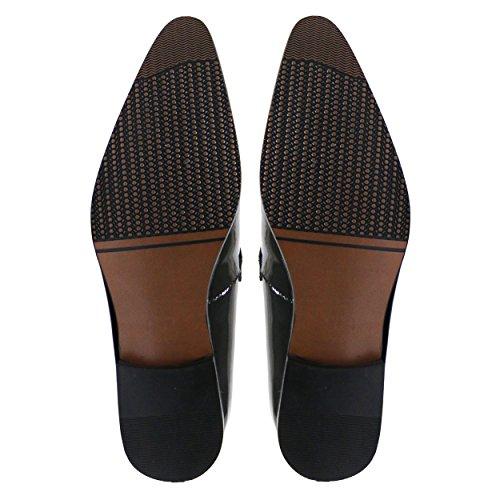 Robelli Herren schwarz Echtleder Schuhe - Seasonal Range LM822-2
