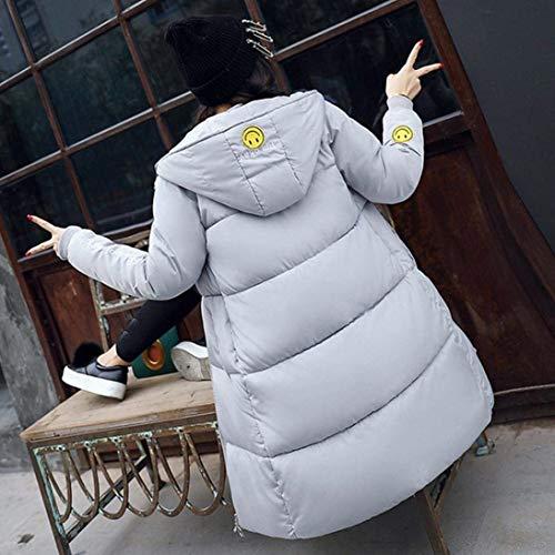 Calda Parka Lunga Fashion Donna Addensare Manica Cappotto Fit Con E Pelliccia Invernale Piumino In Trapuntato Cappuccio Eleganti Piumini Slim Invernali rosa 0qwExIAx