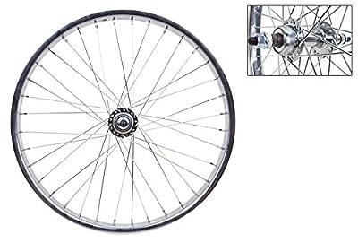 "Wheel Master Rear Bicycle Wheel, 20"" x 1.75, 36H, Steel, Bolt On, Silver"