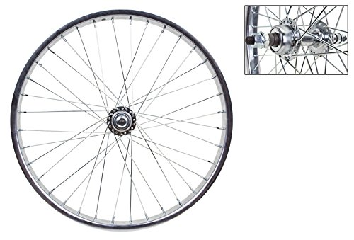 Wheel Master Rear Bicycle Wheel, 20'' x 1.75, 36H, Steel, Bolt On, Silver