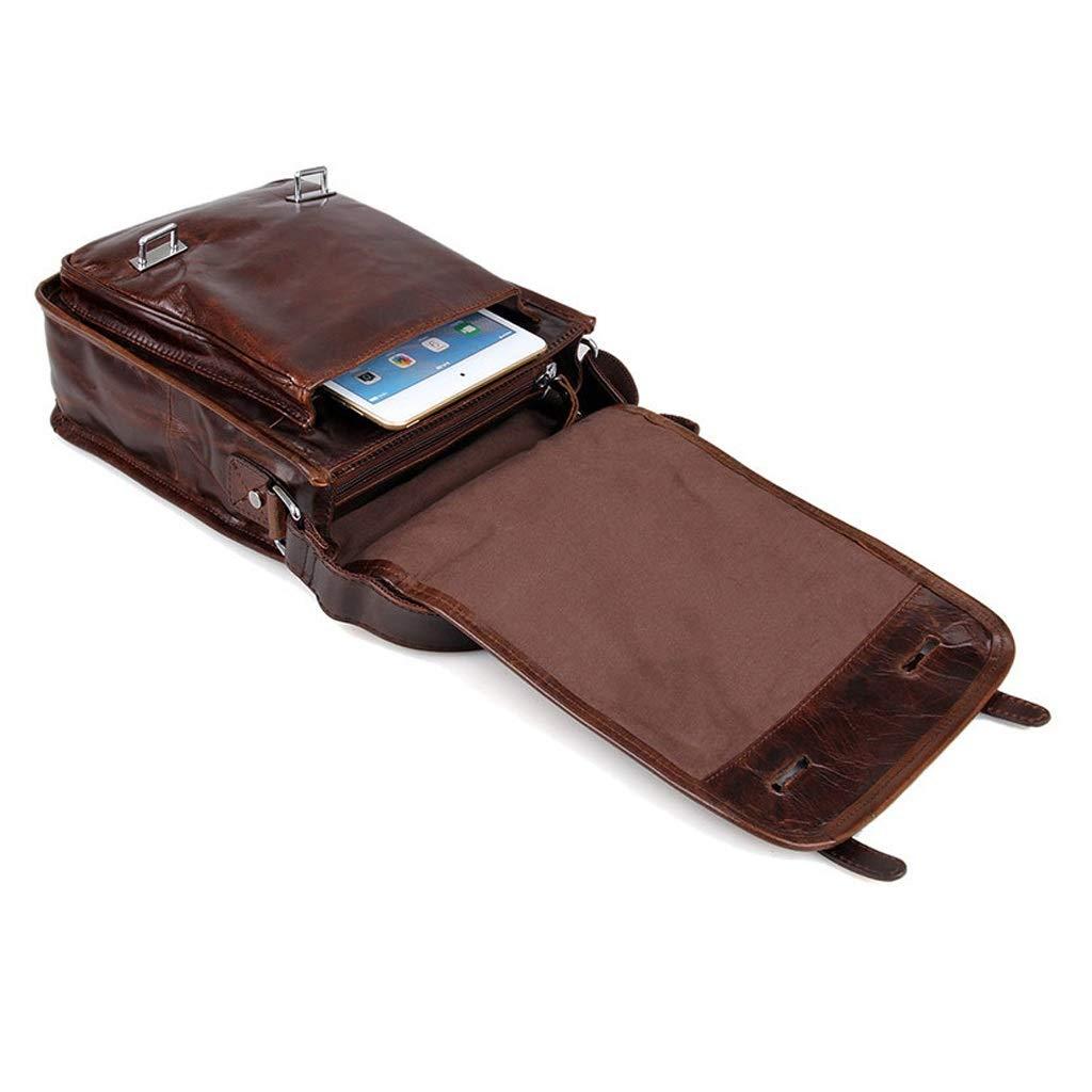Mens Shoulder Messenger Bag Vintage Leisure Tablet bag Daily use 9.053.5411.02 inch LWH)