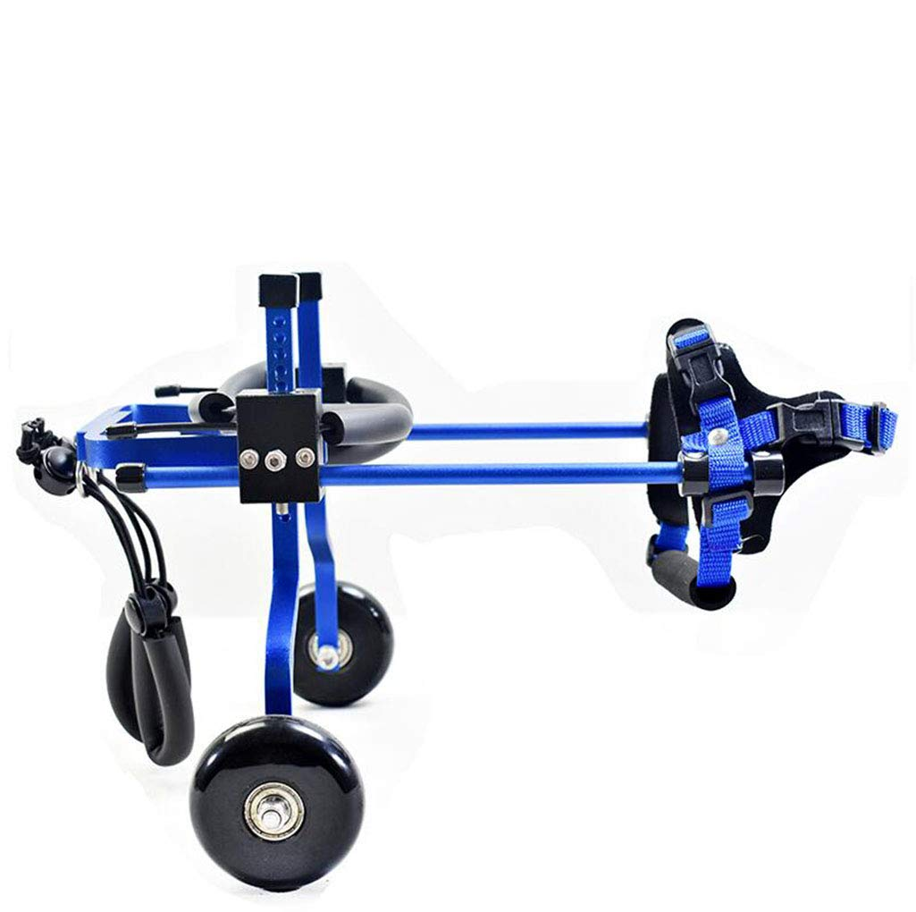 bluee LargeMYYDD Cat and dog wheelchair, disabled, pet, wheelchair, hind limb, small pet, bicycle, scooter, walker,bluee,L