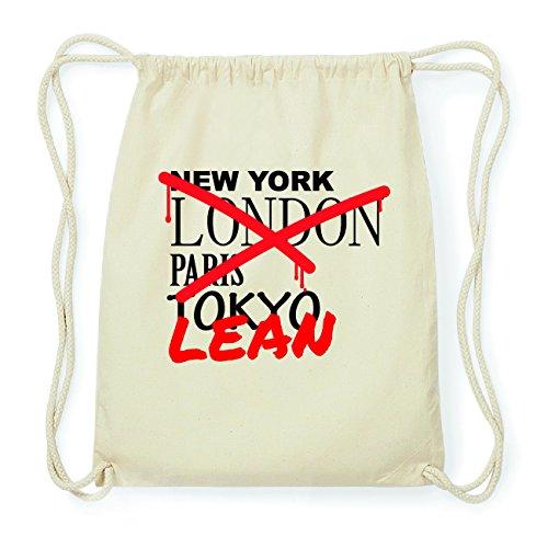 JOllify LEAN Hipster Turnbeutel Tasche Rucksack aus Baumwolle - Farbe: natur Design: Grafitti HszcO0p4Zb