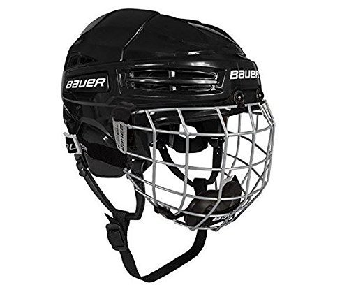 Bauer IMS 5.0 Helmet Combo, Black, Large (Best Youth Hockey Helmet)