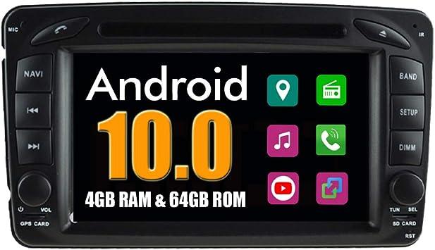 Für Mercedes C-Klasse W203 Autoradio GPS Navigation Android10.0 WiFi 2+32G USB