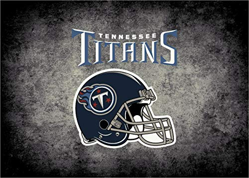 Milliken Imperial Officially Licensed Home Furnishings: NFL Team Distressed Area Rug, Tennessee Titans, 7'8