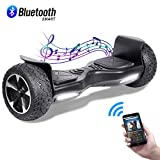 CBD Off Road Hover Board, 8.5' Bluetooth Hoverboard for Kids, Two-Wheel Self Balancing Hoverboard, Electric Scooter All Terrain Hoverboard for Adult-Black