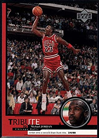 c78190fe63476e Basketball NBA 1999 Upper Deck Tribute to Michael Jordan  29 Michael Jordan  Second Slam Dunk