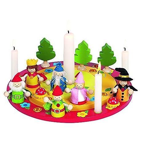 Amazon.com: Goki Corona De Navidad Con Figura De Cumpleaños ...