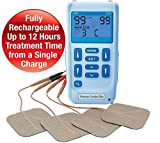 Premier Plus Rechargeable TENS Machine for Pain Relief - Combined with Muscle