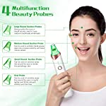 Blackhead Remover, USB Rechargeable Electric Facial Pore Cleanser, 3 Adjustable Vacuum Suction Levels, 4 Pore Vacuum Probe, Pore Extractor for Whitehead, Comedone, Pimple