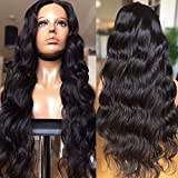 CY Wigs Body Wave Natural Color Full Lace Wigs Brazilian Virgin Hair Lace Front Wigs Human Hair Wigs For Black Women (18 inch, Lace Front Wigs)