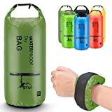 BFULL Waterproof Dry Bag 10L/20L [Lightweight Compact] Roll Top Water Proof Backpack 2 Exterior Zip Pocket Kayaking, Boating, Duffle, Camping, Floating, Rafting, Fishing