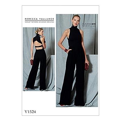 Amazon.com: Vogue Ladies Sewing Pattern 1524 Open Back Halter Neck ...