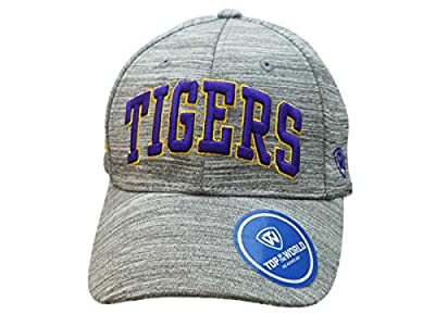 Top of the World LSU Tigers TOW Gray So Fresh Style Structured Adjustable Strap Hat Cap from Top of the World