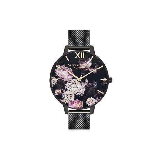 Olivia Burton Reloj Analógico para Mujer de Cuarzo con Correa en Acero Inoxidable OB16AD35: Amazon.es: Relojes