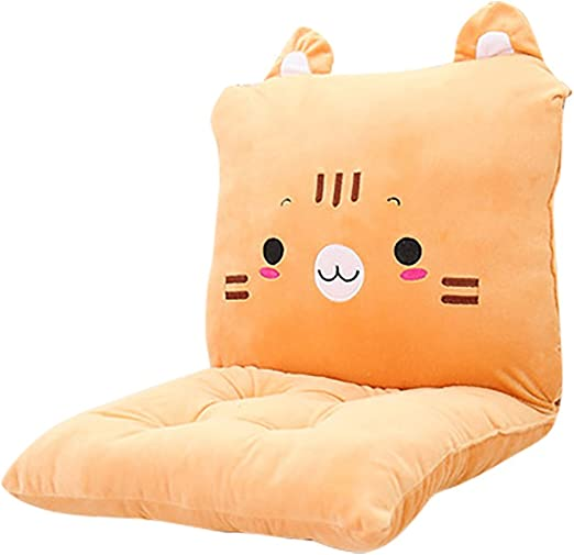 ChezMax Detachable Cartoon Animal//Fruit Polyester PP Cotton Filled Seat Back Chair Pad Thickened Rocking Chair Cushion Set with Ties for Home Office Dinning Chair Indoor Outdoor Cactus