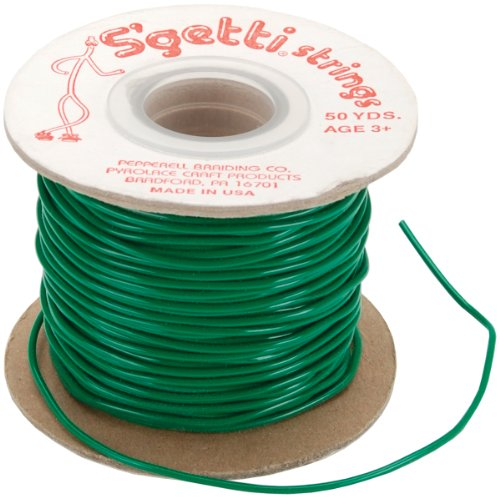 - Pepperell S'getti String Plastic Craft Lace, 50-Yard Spool, Kelly Green