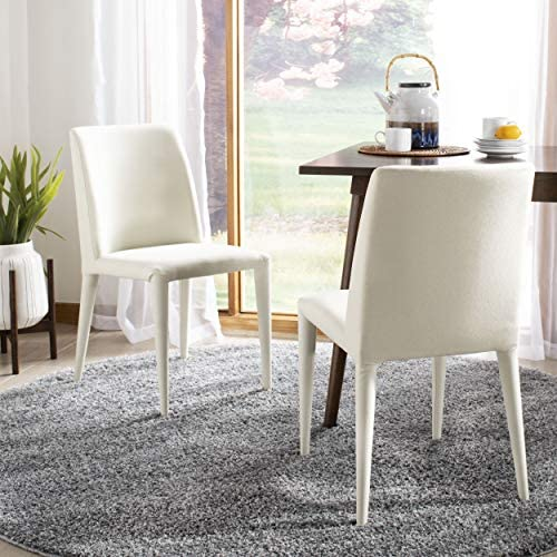 Safavieh Home Collection Garretson Beige Linen 34.4-inch Side Chair Set of 2