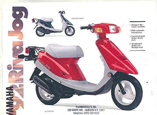 1992 Yamaha Riva Jog 50 Scooter Motorcycle Brochure