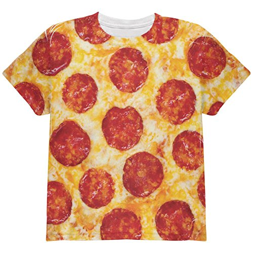 Glory Kids T-shirt (Old Glory Pepperoni Pizza All Over Youth T Shirt Multi YMD)
