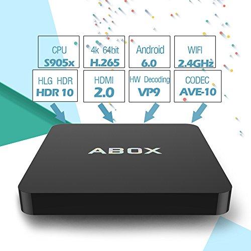 2017 Model GooBang Doo Android 6.0 TV Box, ABOX Android TV Box Amlogic S905X 64 Bits and True 4K Playing