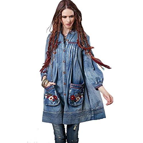 03cbb6380210 low-cost R.Vivimos Women Long Sleeve Pocket Cardigan Short Dresses ...