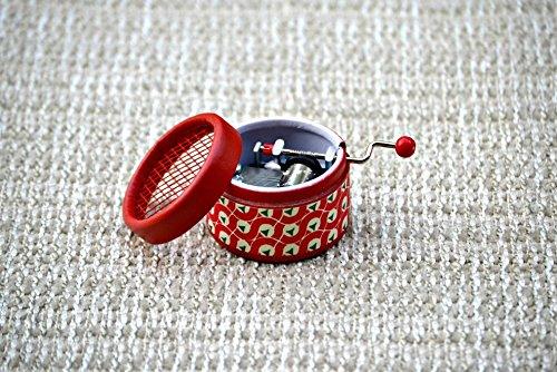 Caja-de-msica-manual-roja-retro-con-melodas-varias